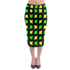 Yellow green shapes                                                       Midi Pencil Skirt