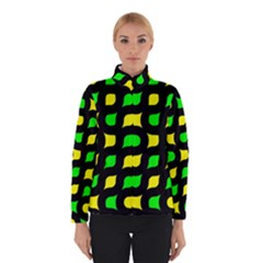 Yellow green shapes                                                     Winter Jacket