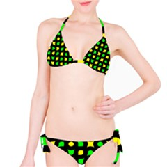 Yellow green shapes                                                     Bikini set