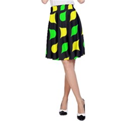 Yellow green shapes                                                     A-line Skirt