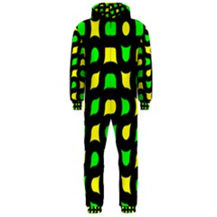 Yellow green shapes                                                     Hooded Jumpsuit (Men)