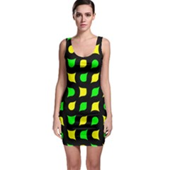 Yellow green shapes                                                     Bodycon Dress