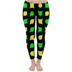 Yellow green shapes                                                     Winter Leggings