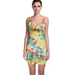 Retro watercolors                                                      Bodycon Dress