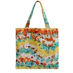 Retro watercolors                                                      Grocery Tote Bag