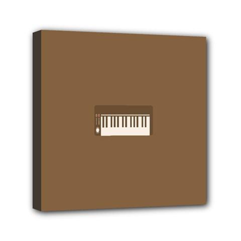 Keyboard Brown Mini Canvas 6  x 6