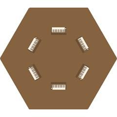 Keyboard Brown Mini Folding Umbrellas