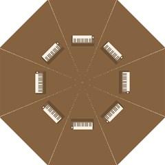 Keyboard Brown Hook Handle Umbrellas (Large)