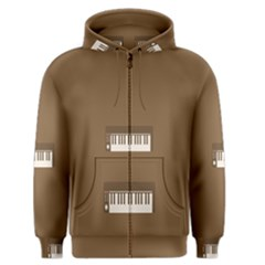 Keyboard Brown Men s Zipper Hoodie