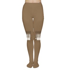 Keyboard Brown Women s Tights