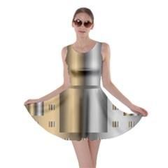 Gold Silver Carpet Skater Dress