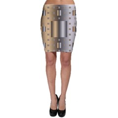 Gold Silver Carpet Bodycon Skirt
