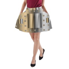 Gold Silver Carpet A-Line Pocket Skirt