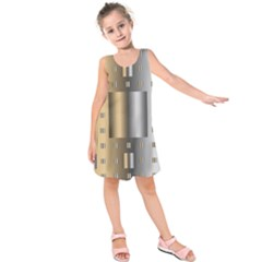 Gold Silver Carpet Kids  Sleeveless Dress