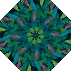 Leaf Rainbow Hook Handle Umbrellas (Large)