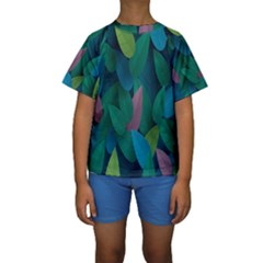 Leaf Rainbow Kids  Short Sleeve Swimwear
