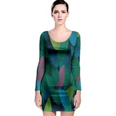 Leaf Rainbow Long Sleeve Bodycon Dress