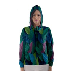 Leaf Rainbow Hooded Wind Breaker (Women)