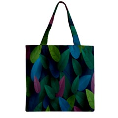 Leaf Rainbow Zipper Grocery Tote Bag