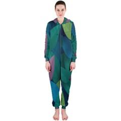Leaf Rainbow Hooded Jumpsuit (Ladies)