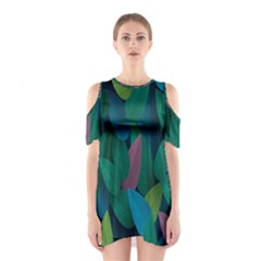Leaf Rainbow Shoulder Cutout One Piece
