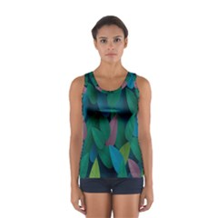 Leaf Rainbow Women s Sport Tank Top