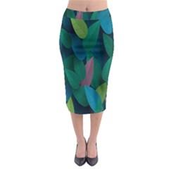 Leaf Rainbow Midi Pencil Skirt