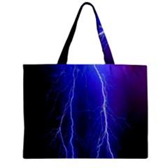 Lightning Electricity Elements Danger Night Lines Patterns Ultra Zipper Mini Tote Bag