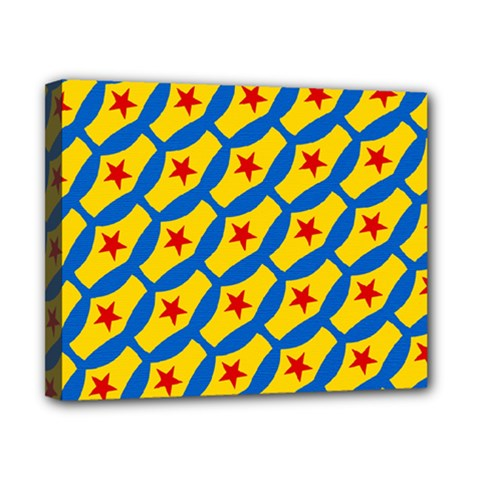 Images Album Heart Frame Star Yellow Blue Red Canvas 10  x 8