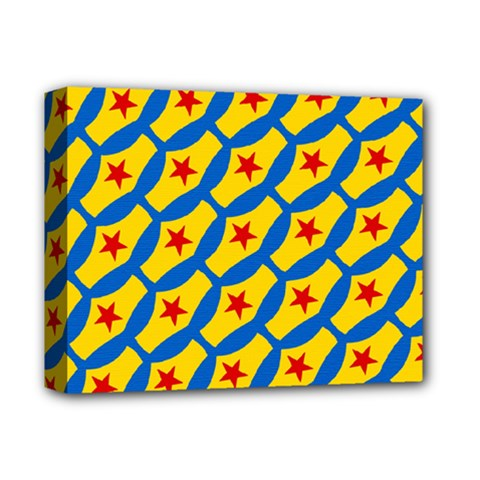 Images Album Heart Frame Star Yellow Blue Red Deluxe Canvas 14  x 11