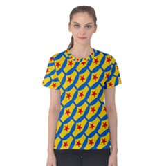 Images Album Heart Frame Star Yellow Blue Red Women s Cotton Tee