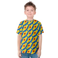 Images Album Heart Frame Star Yellow Blue Red Kids  Cotton Tee