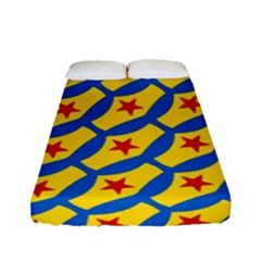Images Album Heart Frame Star Yellow Blue Red Fitted Sheet (full/ Double Size)