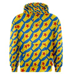 Images Album Heart Frame Star Yellow Blue Red Men s Pullover Hoodie