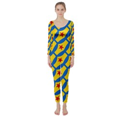 Images Album Heart Frame Star Yellow Blue Red Long Sleeve Catsuit
