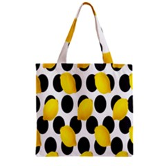 Orange Lime Fruit Yellow Hole Zipper Grocery Tote Bag