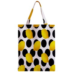 Orange Lime Fruit Yellow Hole Zipper Classic Tote Bag