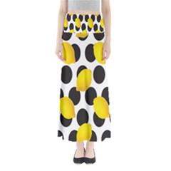 Orange Lime Fruit Yellow Hole Maxi Skirts