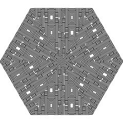 Line Hole Plaid Pattern Mini Folding Umbrellas