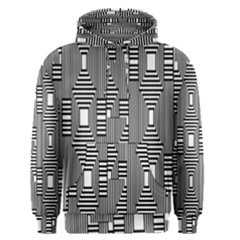 Line Hole Plaid Pattern Men s Pullover Hoodie