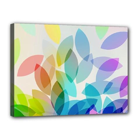 Leaf Rainbow Color Canvas 16  x 12