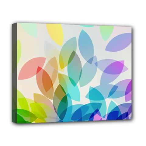 Leaf Rainbow Color Deluxe Canvas 20  x 16