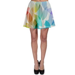 Leaf Rainbow Color Skater Skirt
