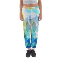 Leaf Rainbow Color Women s Jogger Sweatpants