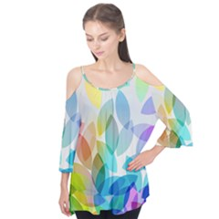 Leaf Rainbow Color Flutter Tees