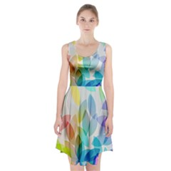 Leaf Rainbow Color Racerback Midi Dress