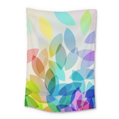 Leaf Rainbow Color Small Tapestry