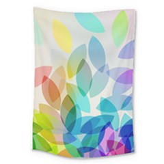 Leaf Rainbow Color Large Tapestry
