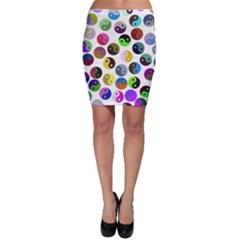 Ying Yang Seamless Color Cina Bodycon Skirt