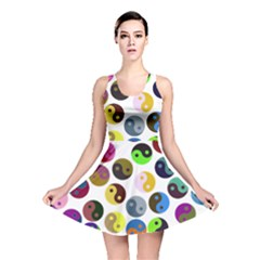 Ying Yang Seamless Color Cina Reversible Skater Dress
